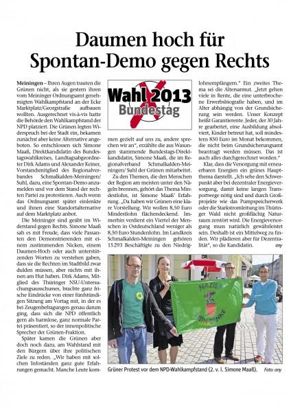 "epaper_Meininger_Tageblatt_""Daumen hoch für Spontan-Dem0 gegen Rechts"""